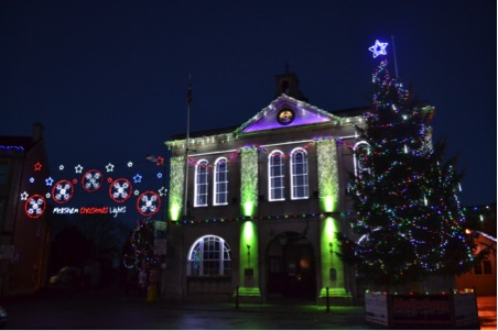 Melksham Christmas Lights Group received a large Grant in 2014 towards the incredible display in the town.